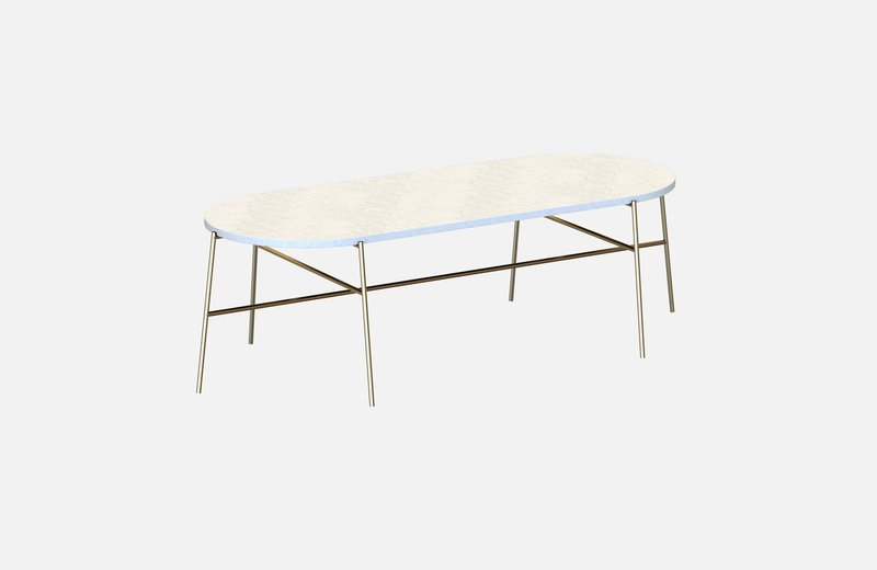 Hige middle table brass with white marble miist treniq 3 1542901003916