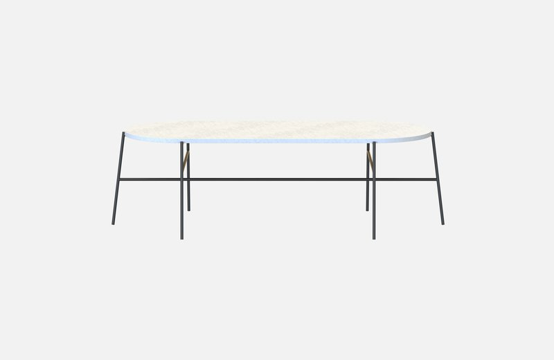 Hige middle table black with white marble miist treniq 3 1542901835440