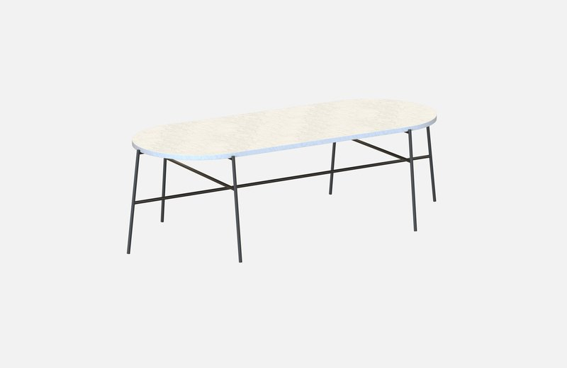 Hige middle table black with white marble miist treniq 3 1542901835439