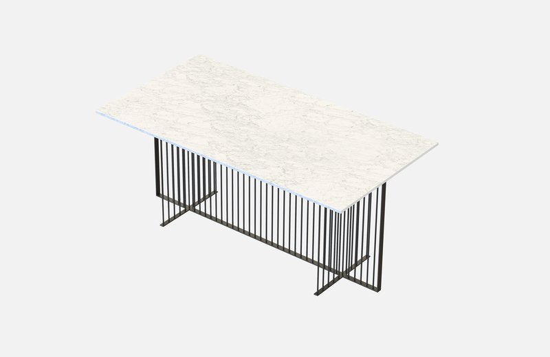 Meister dining table black with white marble miist treniq 3 1542973525156