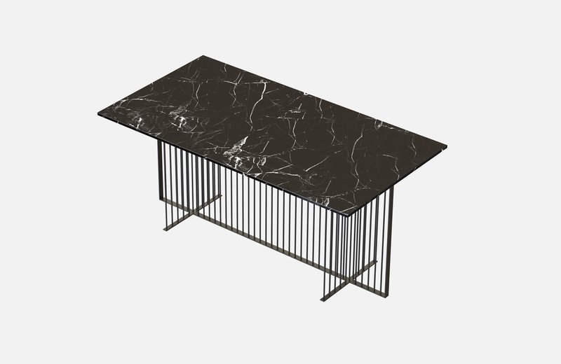 Meister dining table black with black marble miist treniq 3 1542973794374