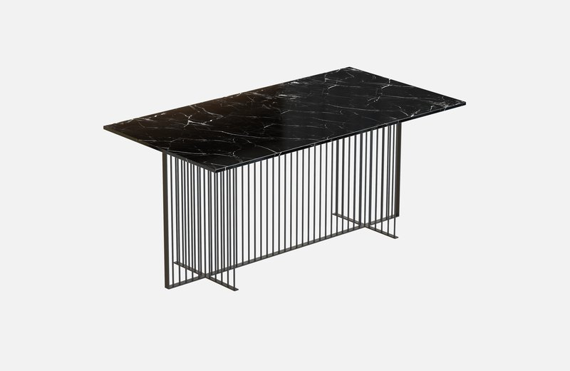 Meister dining table black with black marble miist treniq 3 1542973794375