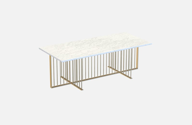 Meister coffee table brass with white marble miist treniq 1 1542976067591