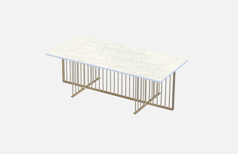 Meister coffee table brass with white marble miist treniq 1 1542976067593