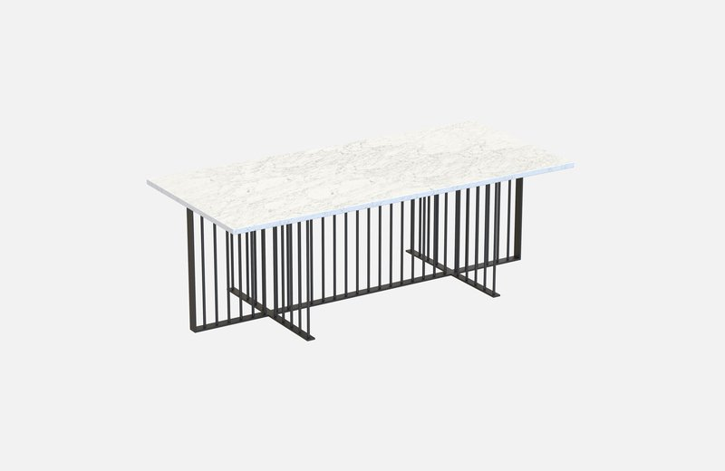 Meister coffee table black with white marble miist treniq 1 1542976753926