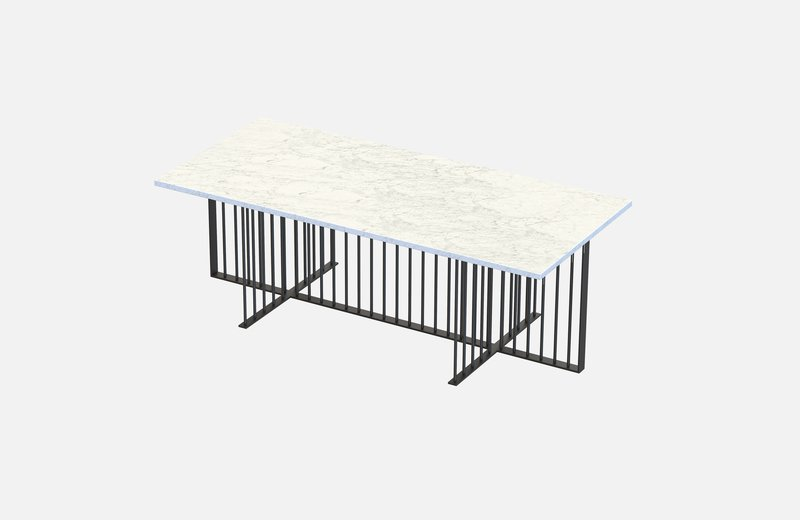 Meister coffee table black with white marble miist treniq 1 1542976753928