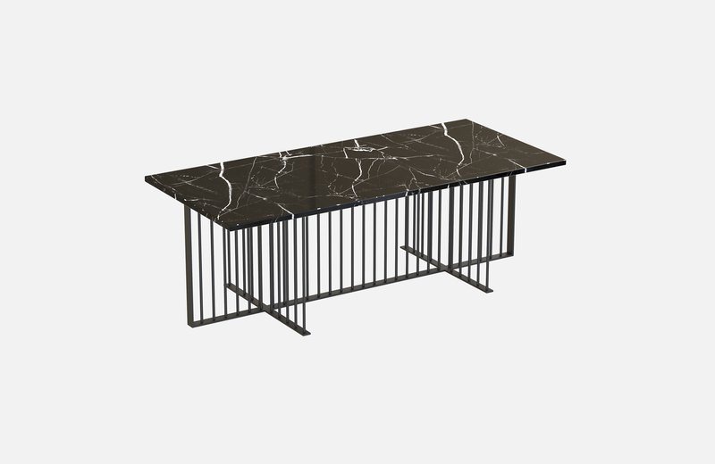 Meister coffee table black with black marble miist treniq 1 1542978345512