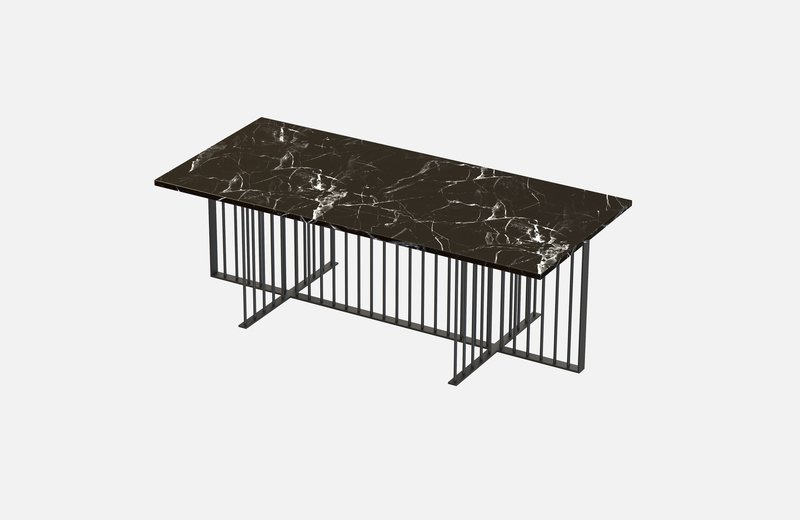 Meister coffee table black with black marble miist treniq 1 1542978345514