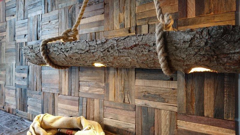 Decorative wood beam led spot light  plug   play  pendant  recessed  rustic wood mosaic ltd treniq 1 1543082117770