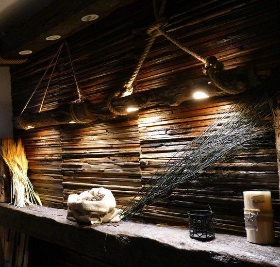 Decorative wood beam led spot light  plug   play  pendant  recessed  rustic wood mosaic ltd treniq 1 1543082117774