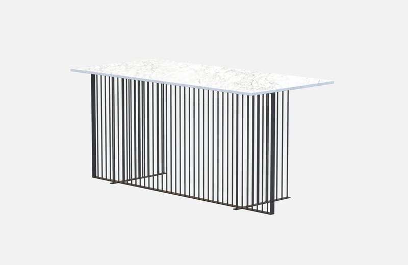 Meister office table black with white marble miist treniq 1 1543139041179
