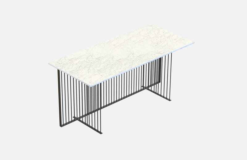Meister office table black with white marble miist treniq 1 1543139041177