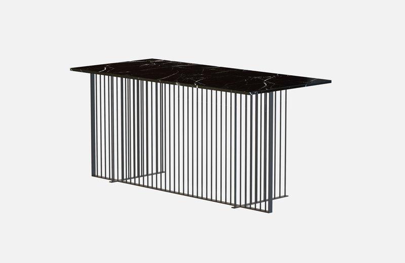 Meister office table black with black marble miist treniq 1 1543139388869