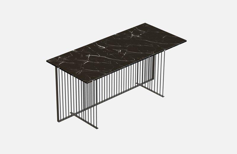 Meister office table black with black marble miist treniq 1 1543139388867