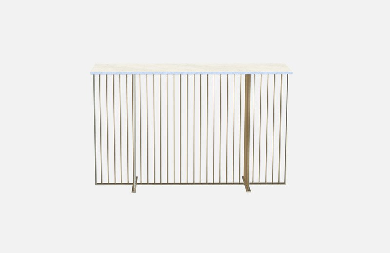 Meister console brass with white marble miist treniq 1 1543139617716