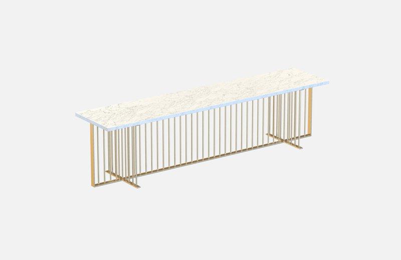 Meister sideboard brass with white marble miist treniq 1 1543140669749