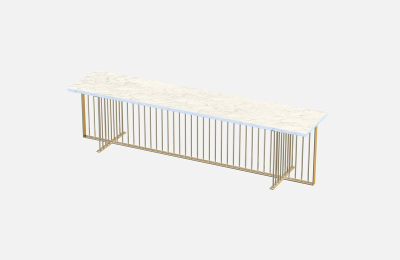 Meister sideboard brass with white marble miist treniq 1 1543140669752