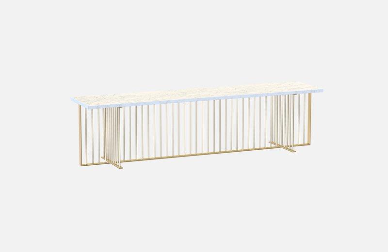 Meister sideboard brass with white marble miist treniq 1 1543140669750