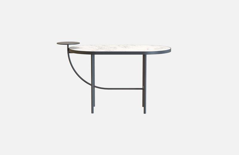 Eva coffee table black with white marble x small miist treniq 1 1543141917283