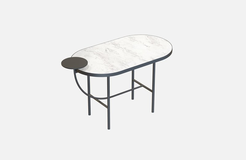 Eva coffee table black with white marble x small miist treniq 1 1543141917281