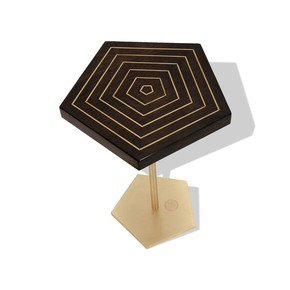 Geometric-Lectern-Pentagon-Side-Table-I_Gauri-Khan-Designs_Treniq_0