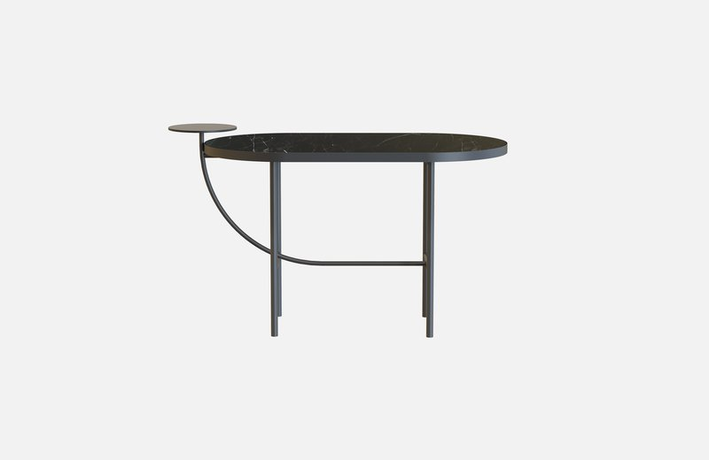 Eva coffee table black with black marble x small  miist treniq 1 1543142072095