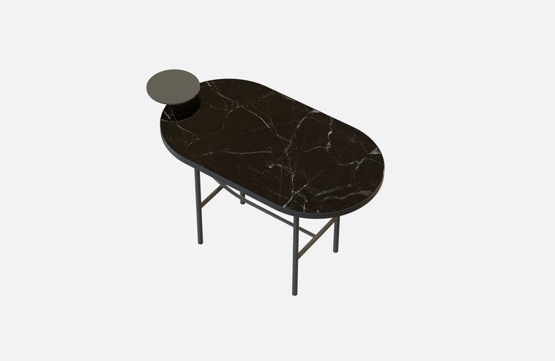 Eva coffee table black with black marble x small  miist treniq 1 1543142072093