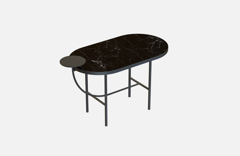 Eva coffee table black with black marble x small  miist treniq 1 1543142072091