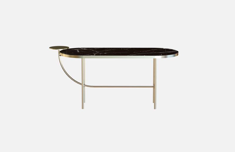 Eva coffee table brass with black marble x large miist treniq 1 1543142587785