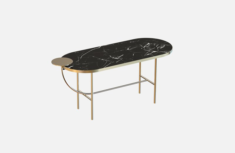 Eva coffee table brass with black marble x large miist treniq 1 1543142587783
