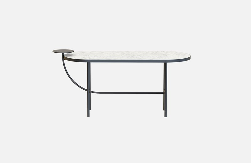 Eva coffee table black with white marble x large miist treniq 1 1543142748237