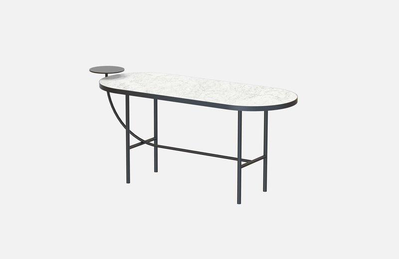 Eva coffee table black with white marble x large miist treniq 1 1543142748236