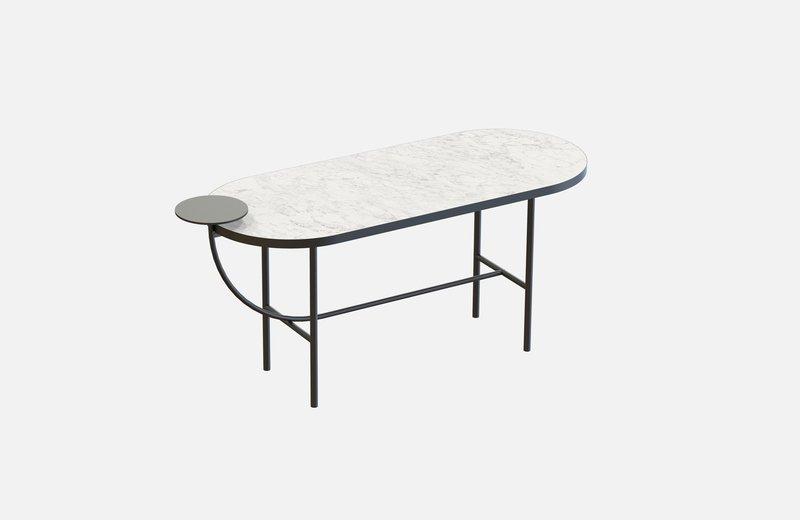Eva coffee table black with white marble x large miist treniq 1 1543142748234