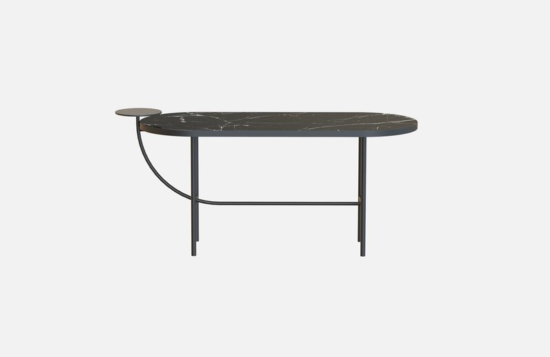 Eva coffee table black with black marble x large miist treniq 1 1543142895529