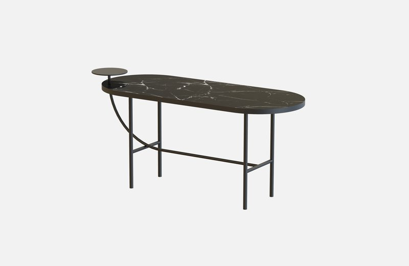 Eva coffee table black with black marble x large miist treniq 1 1543142895527