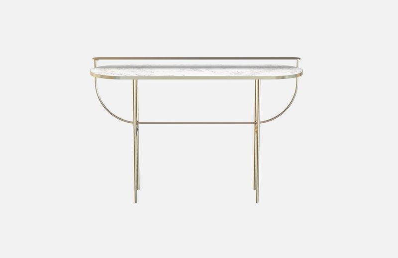 Eva vanity table brass with white marble miist treniq 1 1543143513366