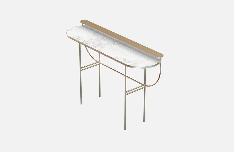 Eva vanity table brass with white marble miist treniq 1 1543143513365