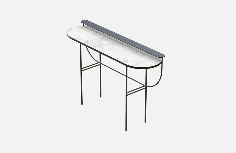Eva vanity table black with white marble miist treniq 1 1543155714306