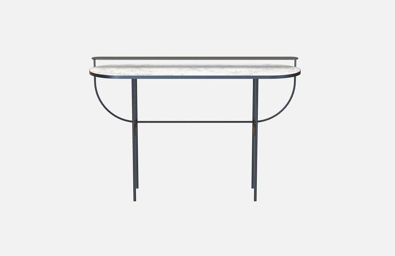 Eva vanity table black with white marble miist treniq 1 1543155714308