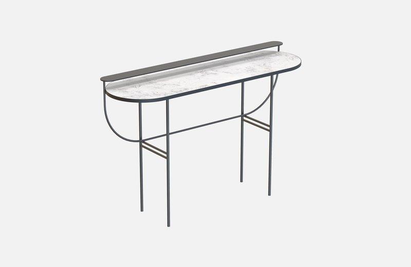 Eva vanity table black with white marble miist treniq 1 1543155714305