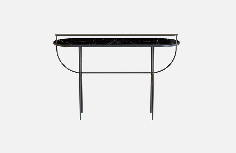 Eva vanity table black with black marble miist treniq 1 1543156901716