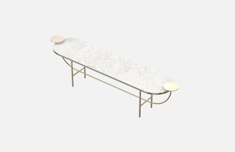 Eva console brass with white marble miist treniq 1 1543157229225