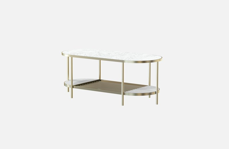 Touch%c3%a9 coffee table brass with white marble miist treniq 1 1543158772492