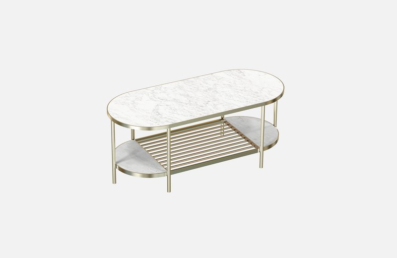 Touch%c3%a9 coffee table brass with white marble miist treniq 1 1543158772491