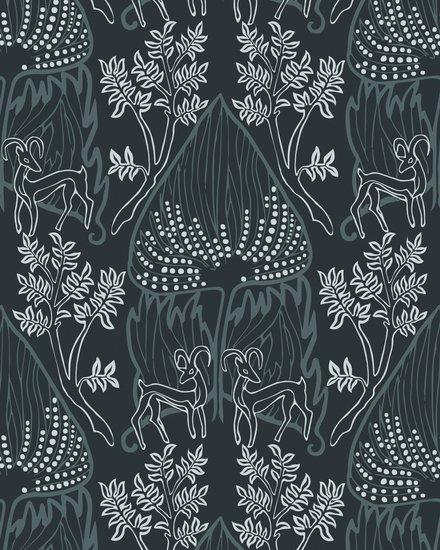 Arabian nights wallpaper   midnight relativity textiles treniq 1 1543349050754