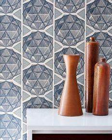 Escher-Wallpaper-Parchment_Relativity-Textiles_Treniq_0