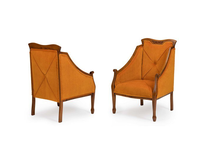 Eclectic pair of antique mahogany   satinwood inlaid chairs rhubarbchairs treniq 1 1545140662494