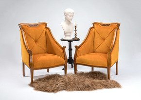 Eclectic-Pair-Of-Antique-Mahogany-&-Satinwood-Inlaid-Chairs_Rhubarb-Chairs_Treniq_0
