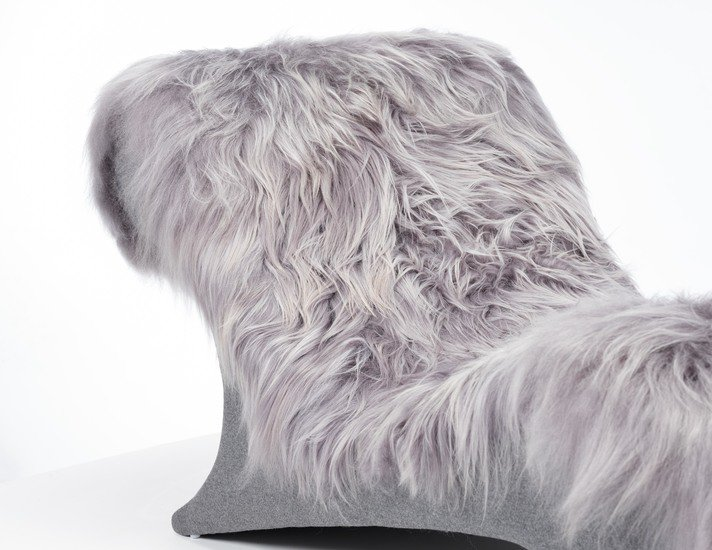 The blizzard eclectic ergonomic chaise in icelandic long haired sheepskin rhubarbchairs treniq 1 1545142019754