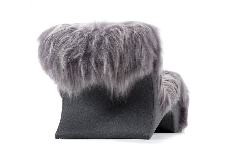 The blizzard eclectic ergonomic chaise in icelandic long haired sheepskin rhubarbchairs treniq 1 1545142059072